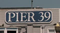 1080p Pier 39 Sign Stock Footage