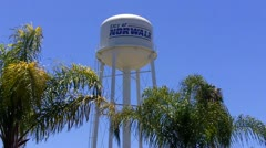 City Of Norwalk Water Tower Stock Footage