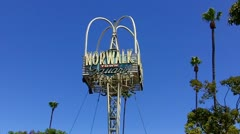 Norwalk California Town Square Sign Stock Footage