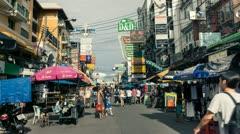 Timelapse Bangkok Khaosan Road Stock Footage