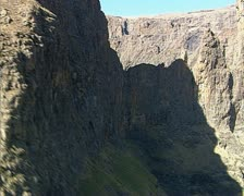 An aerial of the Ukhahlamba Drakensberg Stock Footage