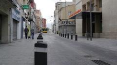Barcelona street life Stock Footage