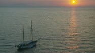 Sailing boat at sunset (2) Stock Footage