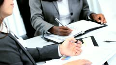 Diverse management team focusing on commodity market  - stock footage