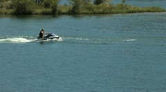 Personal watercraft ride 2 - stock footage