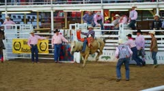 Slow Motion Wild West Rodeo Stock Footage