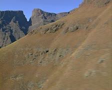 Ukhahlamba Drakensberg  mountains. Stock Footage