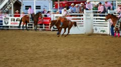 Slow Motion Bucking Horse at Rodeo Stock Footage