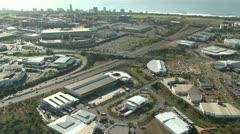 Aerial of Durban's upmarket Umhlanga Rocks Stock Footage