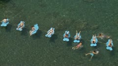 Italian bathers, aerial shot two Stock Footage