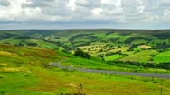 Stock Video Footage of Rosedale in the NorthYorks Moors Yorkshire England