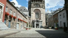 Aachen Cathedral in Germany Stock Footage