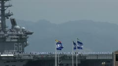 720p Aircraft Carrier Stock Footage