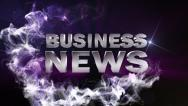BUSINESS NEWS Text in Particle (Double Version) Blue - HD1080 Stock Footage