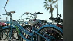Beach Bike Rack Stock Footage