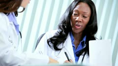 Diverse hospital management planning education     Stock Footage