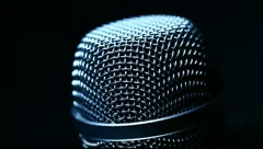 Stock Video Footage of Microphone