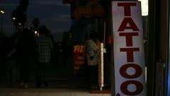 Venice Boardwalk at Night - stock footage