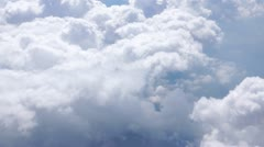 Clouds, shot from an airplane - stock footage