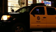 Police on Boardwalk - stock footage