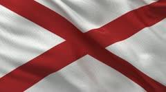 Flag of Alabama seamless loop Stock Footage