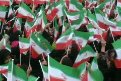 Stock Video Footage of iran 1. Iranian people celebrate  30th Anniversary  of Islamic revolution.