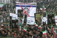 Stock Video Footage of iran 7. Iranian people celebrate  30th Anniversary  of Islamic revolution.