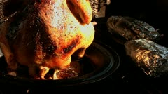 Bar b queing Butt Chicken barbecue summer cooking cutaway transition food fun Stock Footage