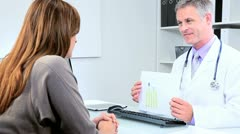 Meeting Doctor and Pharmaceutical Representative Stock Footage