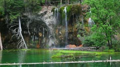 Super sharp focus shot of the amazing Hanging Lake Stock Footage
