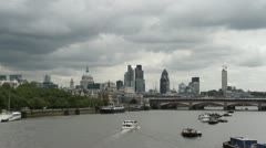 City of London skyline  July 7th 2012. Stock Footage