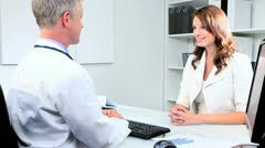 Female Business Advisor with Male Medical Consultant Stock Footage