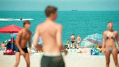 Beach in Summer - stock footage