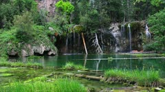 Incredible Hanging Lake in Colorado Stock Footage