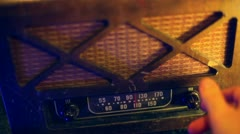 Antique radio old time music Stock Footage