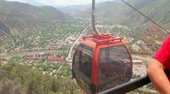 Gondola ride in Glenwood Springs Colorado Stock Footage