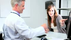 Business Executive Meeting Medical Doctor - stock footage