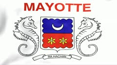 Flag Of Mayotte Stock Footage