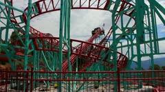 Worlds highest (altitude) roller coaster Stock Footage