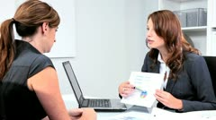 Female Commodity Brokers Team Meeting - stock footage