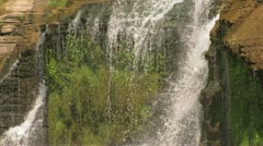 Moss Behind Waterfall Stock Footage