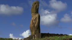 Moai statue Easter Island Stock Footage
