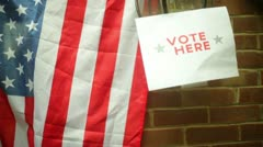 Election voting sign outside Stock Footage