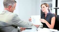 Businessman Meeting Financial Advisor - stock footage