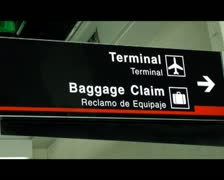 Baggage Claim, Luggage and Suitcases Stock Footage