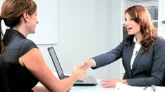 Banking Executive Meeting Female Business Client Stock Footage