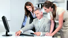 Caucasian Commodity Management Team Meeting - stock footage