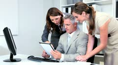 Business Consultant Receiving Colleagues Congratulations - stock footage