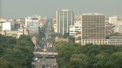 Aerial Berlin Urban Life Stock Footage