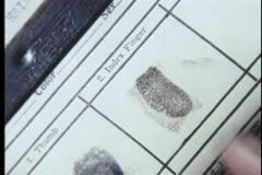 Close-up of person being fingerprinted - stock footage